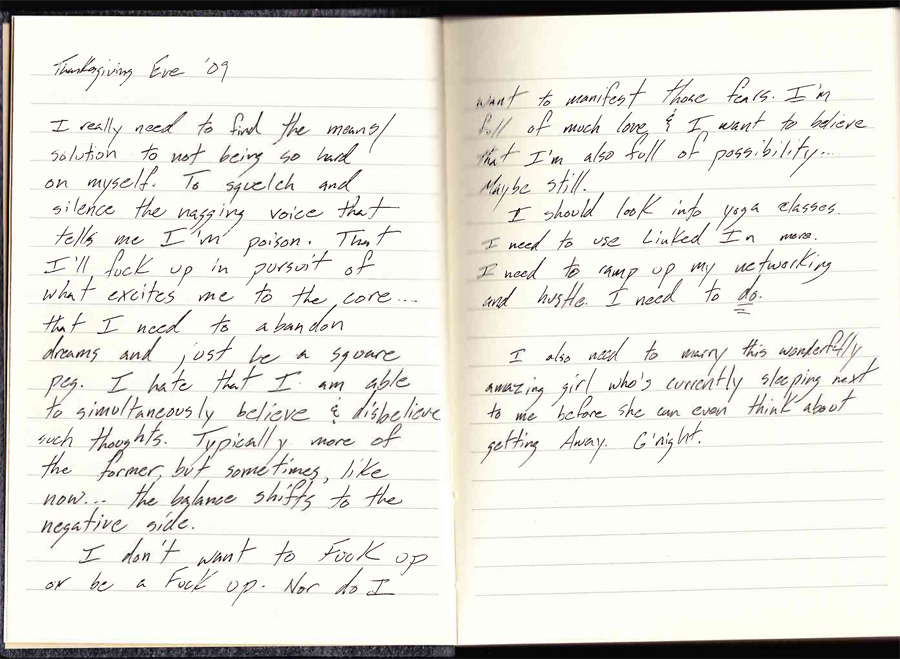 journal scan thanksgiving eve 2009
